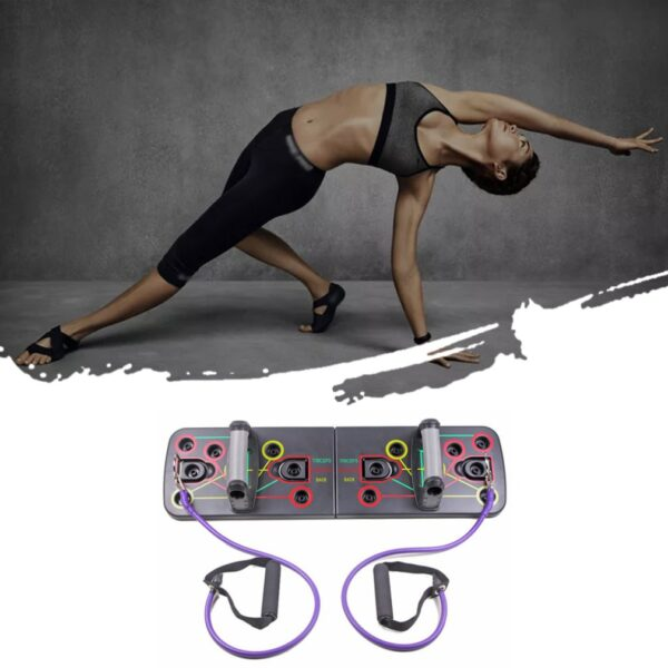 Push-up bracket fitness equipment chest muscle training exercise stand bracket pull rope training board