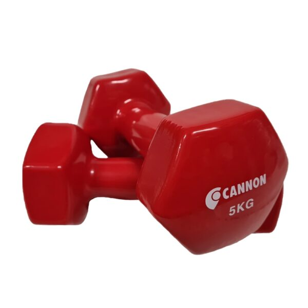 CANNON game weights vinyl. 0,5 to 5Kg Set gym dumbbell, muscle and training, fitness Material man and woman